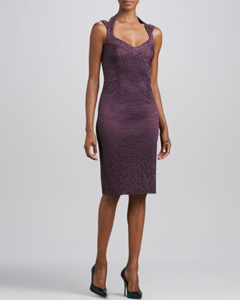 Halter Lace Cocktail Dress, Plum