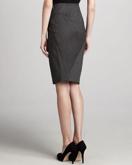 Pinstriped Envelope Skirt