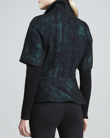 Norma Short-Sleeve Peplum Jacket