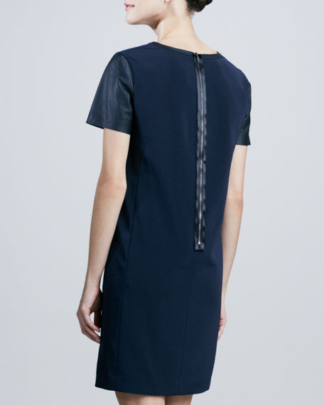 Kellan Printed-Front Shift Dress