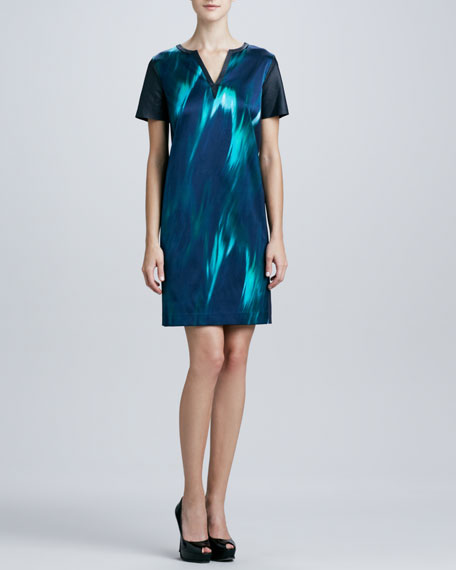 Kellan Printed-Front Shift Dress