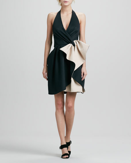 Halter Dress with Bow Detail