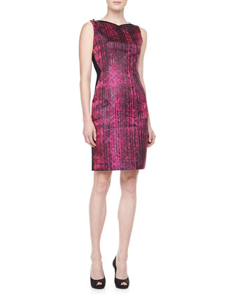 Ladella Sheath Dress, Couture Pink