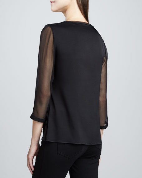Enza Lace 3/4-Sleeve Blouse