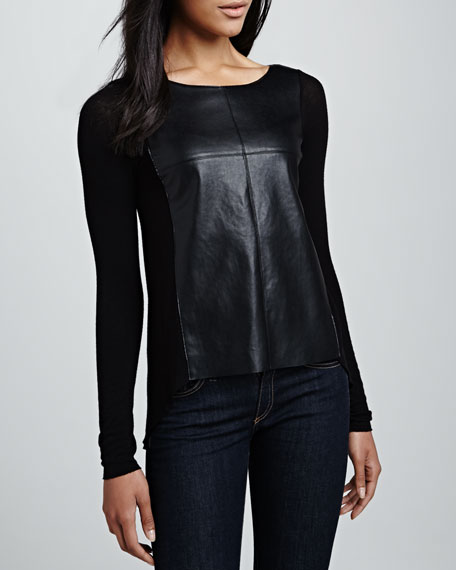 Software Faux-Leather Top