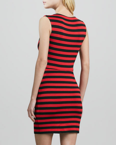 Dial-Up Striped Sleeveless Dress