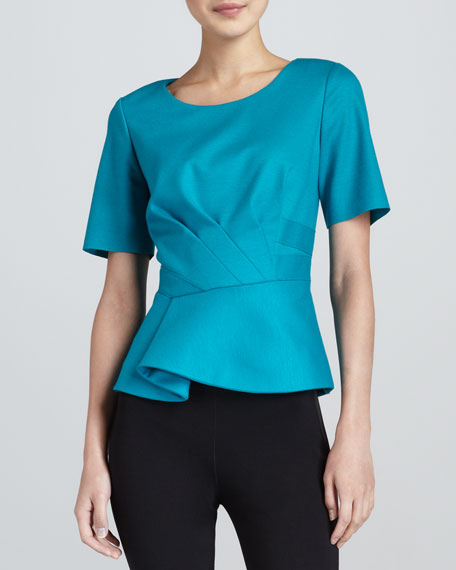 Colby Folded-Peplum Blouse