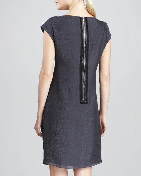 Darlene Asymmetric-Detail Shift Dress