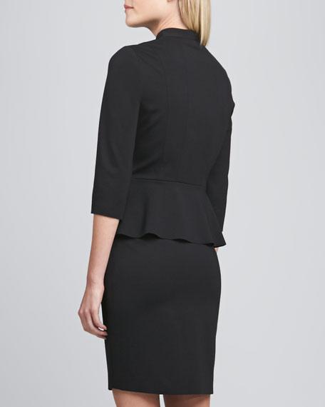 Abby Zip-Front Peplum Dress