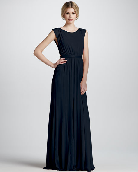 Triss Sleeveless Cutout-Back Gown