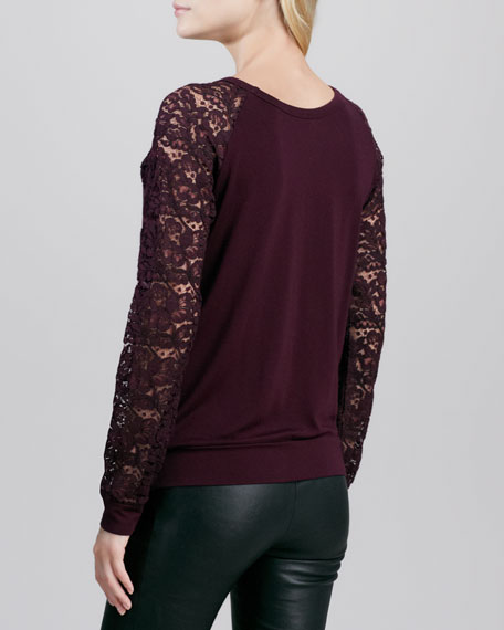 Stolen Bride Faux-Leather Sweatshirt