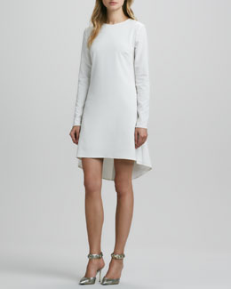 Nha Khanh Long-Sleeve Hi-Lo-Hem Dress