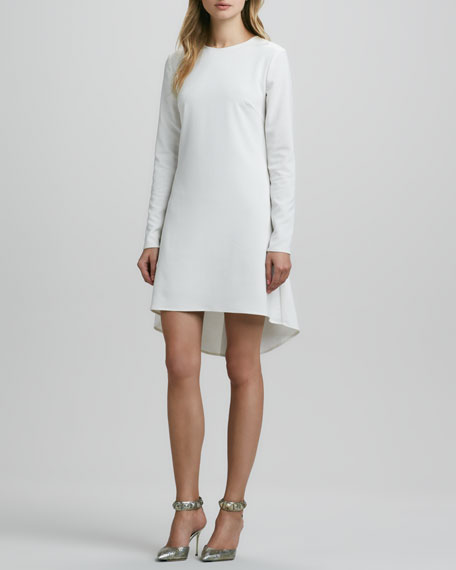 Long-Sleeve Hi-Lo-Hem Dress