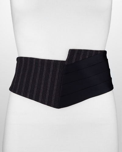 Donna Karan Spliced Mixed-Media Cummerbund