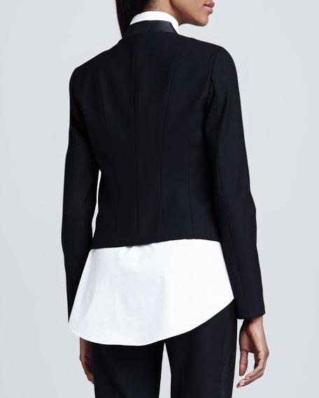 Kelly Leather-Trim Short Jacket