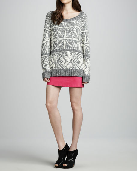 Brigitta Leather Miniskirt