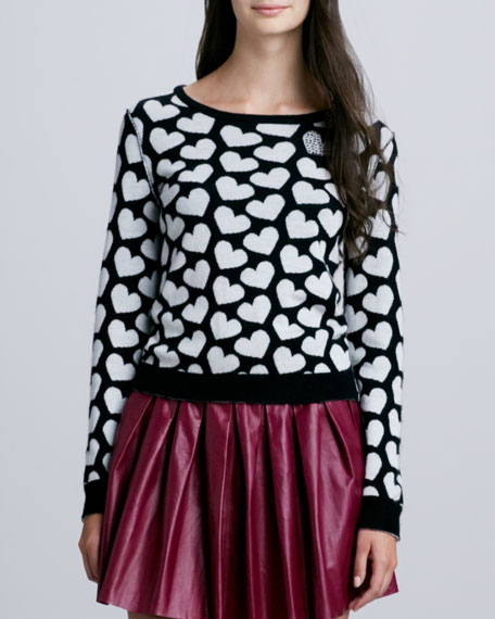 Emmy Heart-Print Sweater