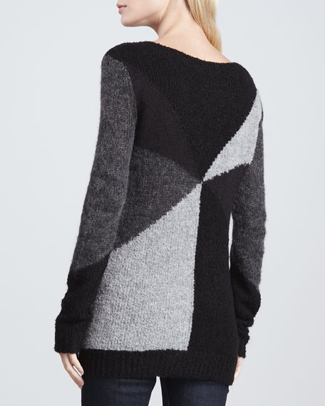 Elsa Colorblock Long Sweater