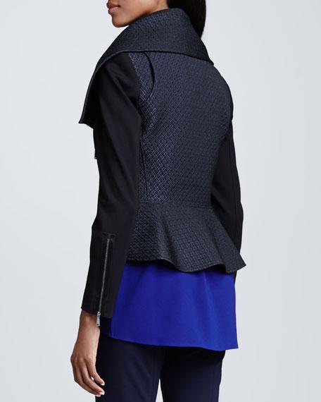 Angelica Jacquard Zip-Front Jacket
