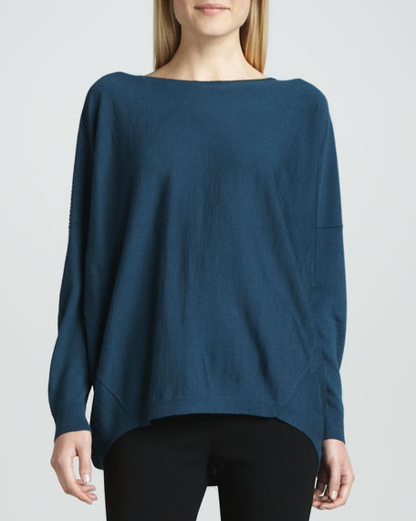 Lafayette 148 New York Dropped-Hem Sweater