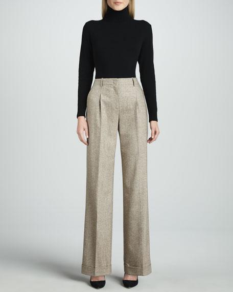 Harrison Pleated Tweed Pants