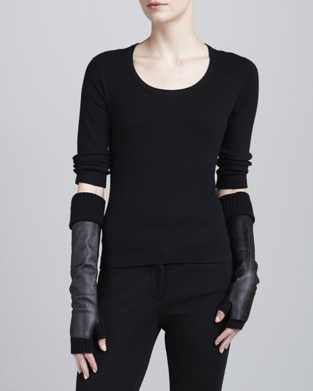 Wool & Cashmere Arm Warmers, Black