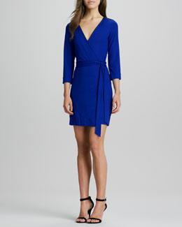Diane von Furstenberg New Julian Two Mini Wrap Dress, Tanzanite