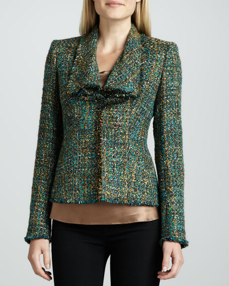 Alban Fringe-Trim Tweed Jacket