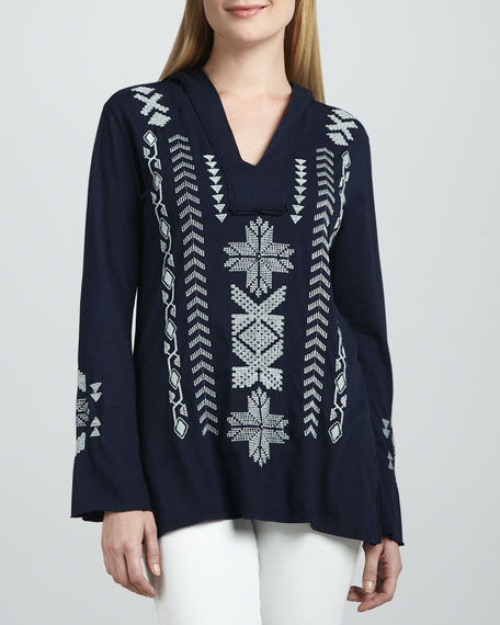 Kiera Embroidered Pullover Hoodie