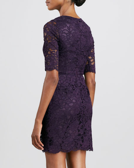 1/2SLV JWLNK LACE DRESS