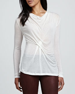 Graham & Spencer Autumn Gauze Long-Sleeve Top