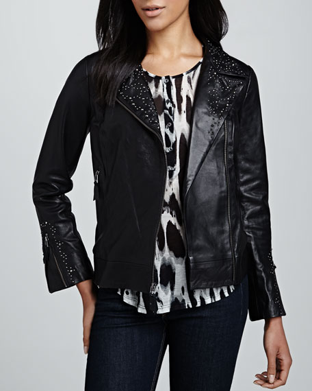 Studded Leather Motorcycle Jacket