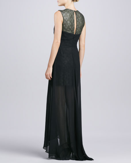 Sleeveless Chiffon High-Low Gown