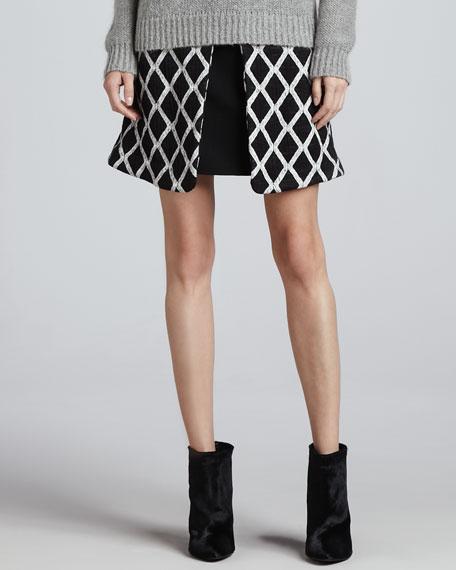 Irene Pleated Printed Skirt
