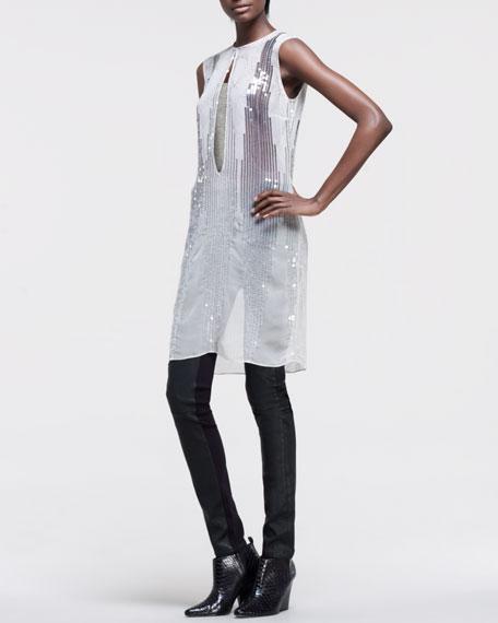Mix-Fabric Leggings