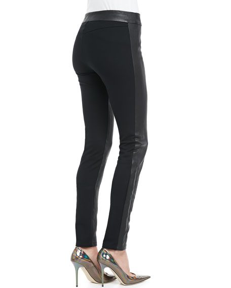 Mix-Fabric Leggings