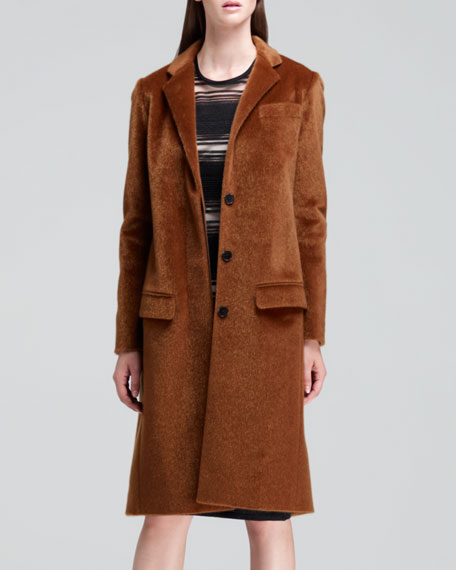Long Faux-Hair Coat