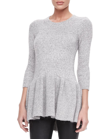Long Knit Peplum Sweater