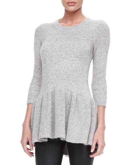 Long Knit Peplum Sweater