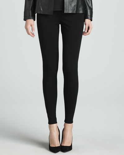 Stretch Viscose Jersey Leggings