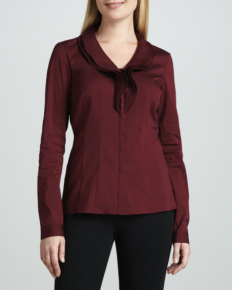 Jayna Ruffle-Front Blouse