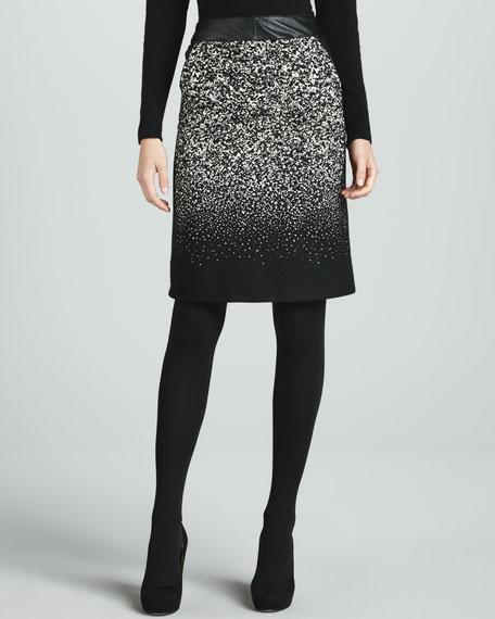 Bruana Leather-Waist Skirt