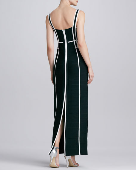 Sleeveless Gown with Back Slit