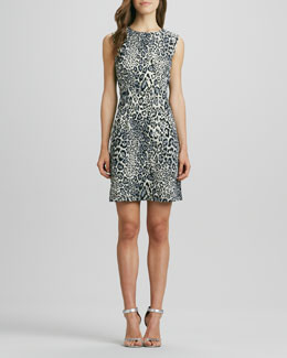 Phoebe Couture Animal-Print Sheath Dress
