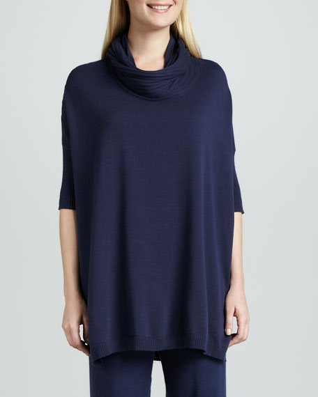 Cowl-Neck Oversized Tunic, Women's