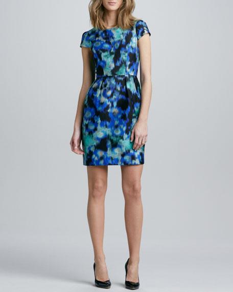Floral Ikat-Print Dress