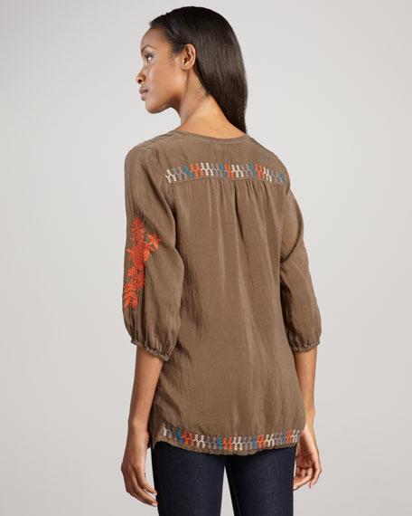 Mia Embroidered Blouse, Women's