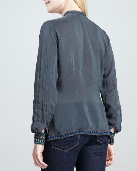 Kabuki Button-Front Blouse, Women's