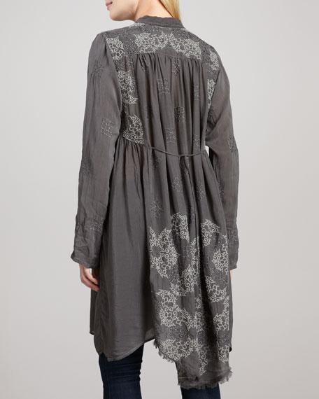 Lace-Up Long Tunic