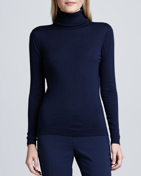 Fine-Gauge Merino Turtleneck